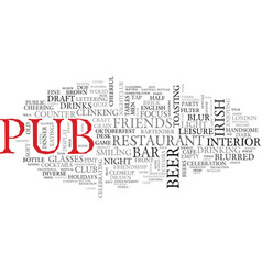 Pub word cloud concept vector
