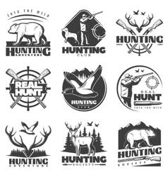 Real hunt labels set vector