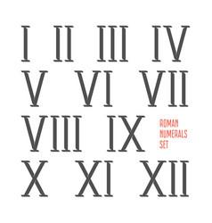 Roman numerals set vector