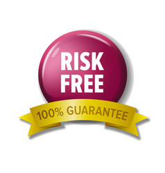 round crimson button risk free - 100 guarantee vector image