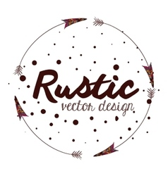 Rustic style design vector