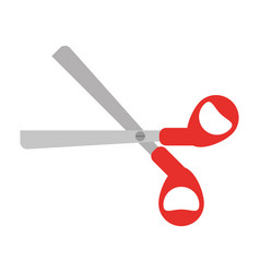 scissors tool school icon vector image