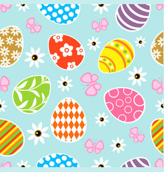 Seamless easter background card blue vector