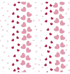 Seamless Pattern with Heart Bands vector image
