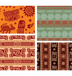 set mexican seamless tiles vector image