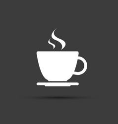 simple modern white cup of coffee icon vector image