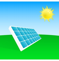 Solar power plant vector