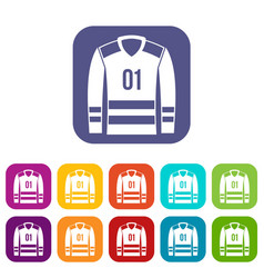 Sport uniform icons set vector