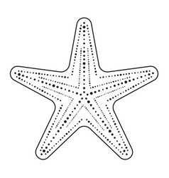 Starfish sea stars line art icon for apps vector