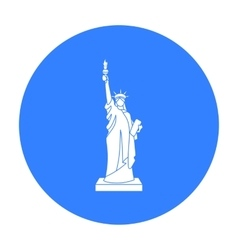 Statue of Liberty icon in black style isolated on vector