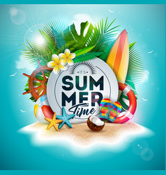 summer time holiday design with flower vector image