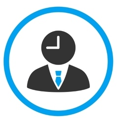 Time Manager Circled Icon vector image