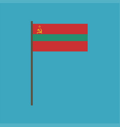 transnistria flag icon in flat design vector image