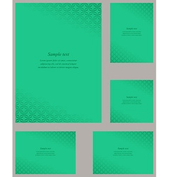 Turquoise page corner design template set vector