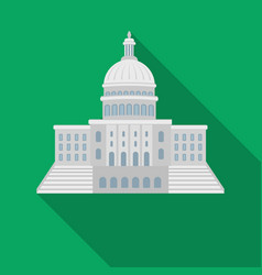 United states capitol icon in flate style isolated vector