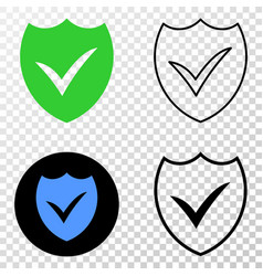valid shield eps icon with contour version vector image