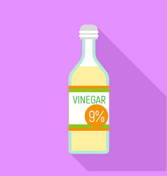 Vinegar bottle icon flat style vector