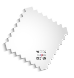 White zigzag frame vector
