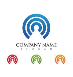 Wireless logo template vector