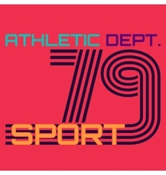 athletic dept typography t-shirt graphics vector image