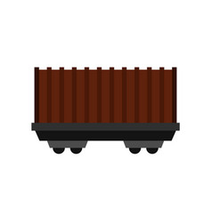 Cargo wagon icon flat style vector