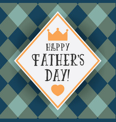 design greeting card for fathers day vector image vector image