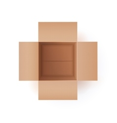 Of Cardboard Box vector image