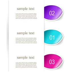 Set of paper bookmarker or stickers vector image vector image