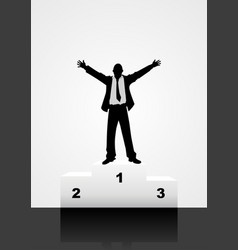silhouette of a male on rank stages vector image vector image