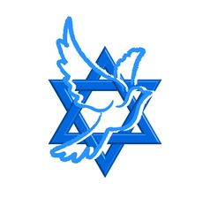 star of david and pegeion vector image vector image