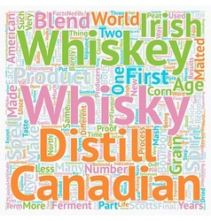 Some facts about whiskey or whisky text background vector