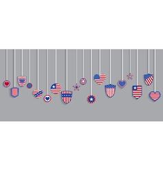 USA symbols on ropes vector image vector image