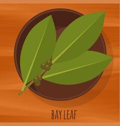 bay leaf flat design icon vector image vector image
