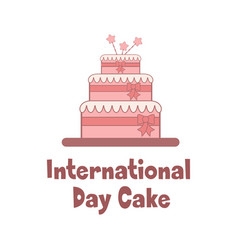bright holiday poster for international cake day vector image vector image