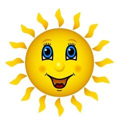 Happy smiling sun vector image vector image