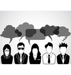 People communication with speech bubbles vector image vector image