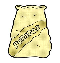 comic cartoon sack of potatos vector image vector image