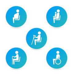 Disabilities and seniors cripple pregnant mom or vector image
