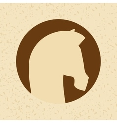 horse silhouette design vector image