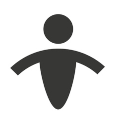 human figure silhouatte icon vector image