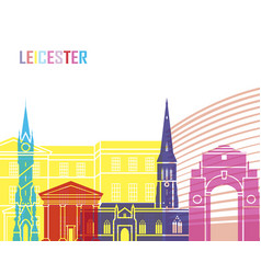 leicester skyline pop vector image vector image