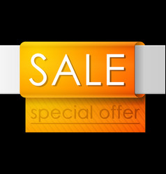 Sale banner template design orange advertising vector