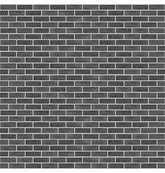 Seamless Black Brick Wall vector image vector image