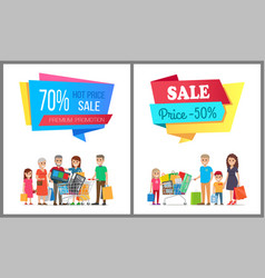 set of special sale posters vector image