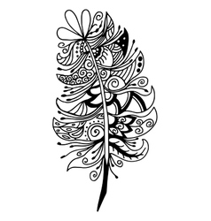 Very high quality original feather vector image vector image