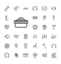 33 studio icons vector