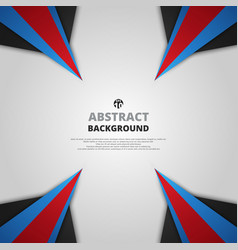 abstract of gradient red blue and black geometric vector image
