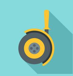 angle cut machine icon flat style vector image