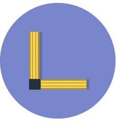 Angle ruler icon vector