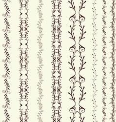 art line border vector image